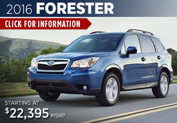 Click For 2016 Subaru Forester Model Information in Steamboat Springs, CO