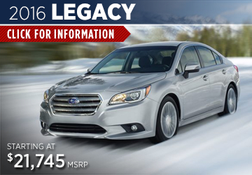Click For 2016 Subaru Legacy Model Information in Steamboat Springs, CO