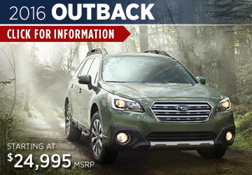 Click to View The 2016 Subaru Outback Model Available in Steamboat Springs, CO