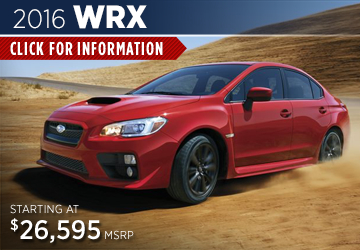 Click For 2016 Subaru WRX Model Information in Steamboat Springs, CO