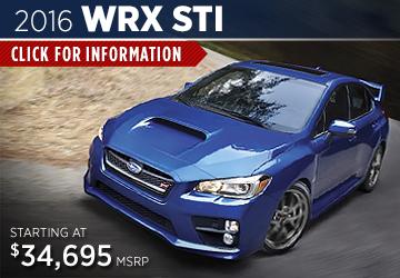 Click For 2016 Subaru WRX STI Model Information in Steamboat Springs, CO