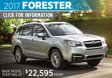 Click to View 2017 Subaru Forester Model Details in Auburn, WA