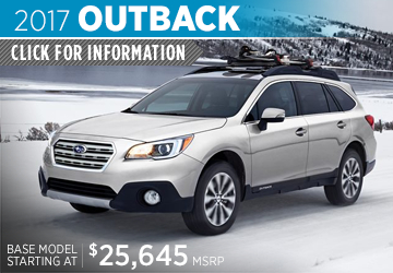 Click to View 2017 Subaru Outback Model Details in Auburn, WA