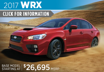Click to View 2017 Subaru WRX Model Information