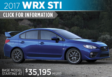 Click to View 2017 Subaru WRX Sti Model Details in Auburn, WA
