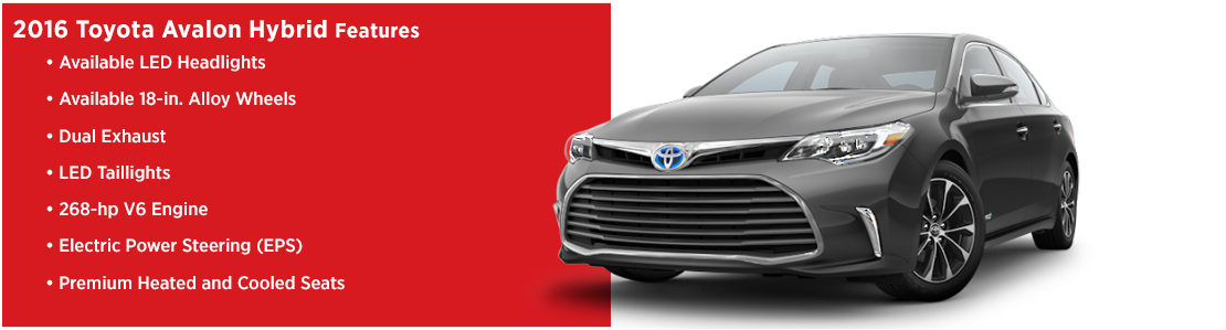New 2016 Toyota Avalon Hybrid Model Features