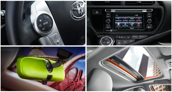 2016 Toyota Prius c Model Interior Style & Features