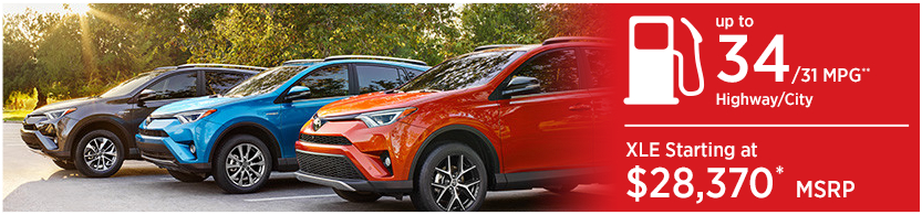 New 2016 Toyota RAV4 Hybrid Model Mileage & MSRP