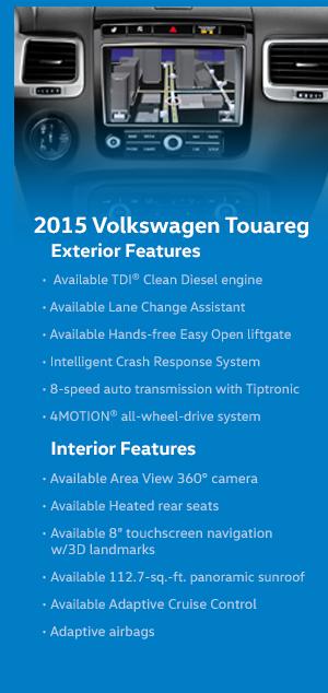 2015 Volkswagen Touareg Model Features